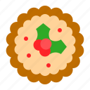 baked, christmas, food, gastronomy, pie, sweet, xmas icon