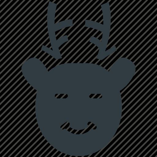 Animal head, christmas reindeer, deer head, elk, reindeer head icon - Download on Iconfinder