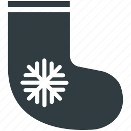 christmas accessories, christmas socks, christmas stocking, fur stocking, stocking fillers icon