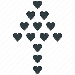 decoration, decorative hearts, hearts, hearts decoration, wall decoration icon