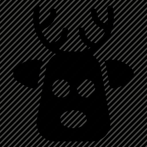 animal, bull, cow, deer, halloween icon