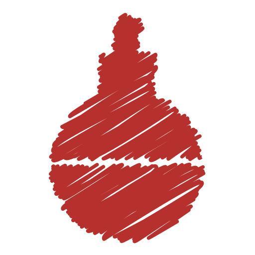 ball, bauble, christmas, decor, decoration, holiday, scribble icon