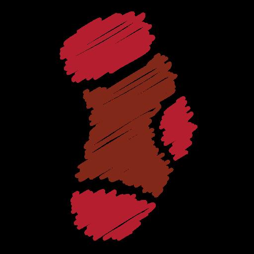 christmas, gift, scribble, sock, socks, xmas winter icon