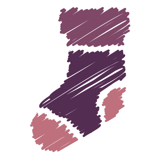 christmas, gift, scribble, sock, socks, xmas winter icon
