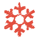 christmas, flake, ice, scribble, snow, snowflake, winter icon