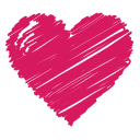 bookmark, favorite, health, heart, like, love, scribble icon