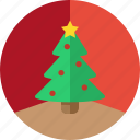 christmas, christmas tree, circle, decoration, holiday, tree, xmas icon