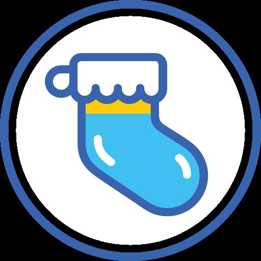 christmas, new, sock, year, новый год, носок icon