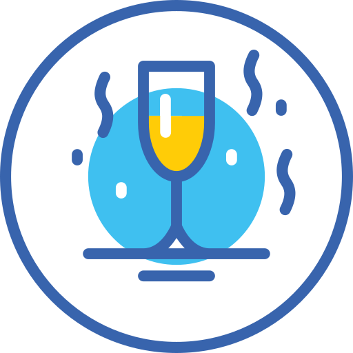 champagne, christmas, new, year, бокал, новый год, шампанское icon