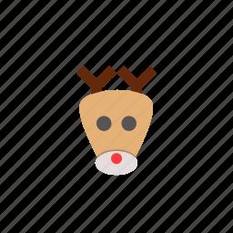 christmas, christmas deer, christmas reindeer, cute, deer, funny, joke icon