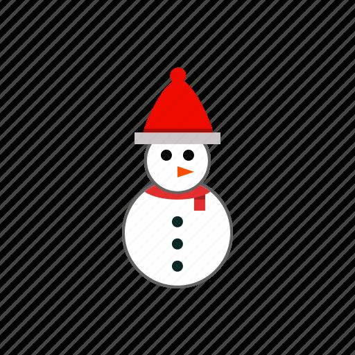 celebration, christmas, cute, fat, funny, santa, snowman icon
