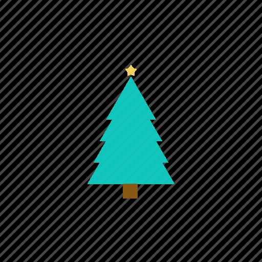 christmas, christmas tree, green, smooth, tree icon