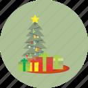 christmas, tree, decoration, holiday, snow, winter, xmas