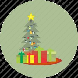 christmas, decoration, holiday, snow, tree, winter, xmas icon