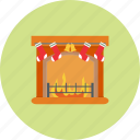 christmas, decoration, fireplace, holiday, snow, winter, xmas icon