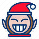 christmas, goblin, mask icon