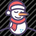 christmas, navidad, snow, snowman icon