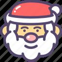christmas, navidad, santa icon