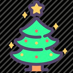 christmas, navidad, tree icon