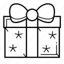 bow, christmas, christmas present, gift, holiday, present icon