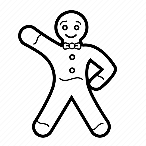 christmas, decoration, food, gingerbread, gingerbread man, holiday, man icon