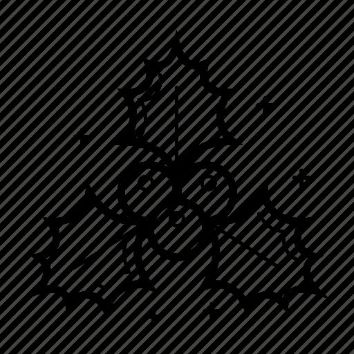 berry, christmas, christmas berry, decoration, holly, mistletoe icon