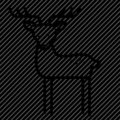animal, antler, christmas, deer, reindeer, rudolf icon