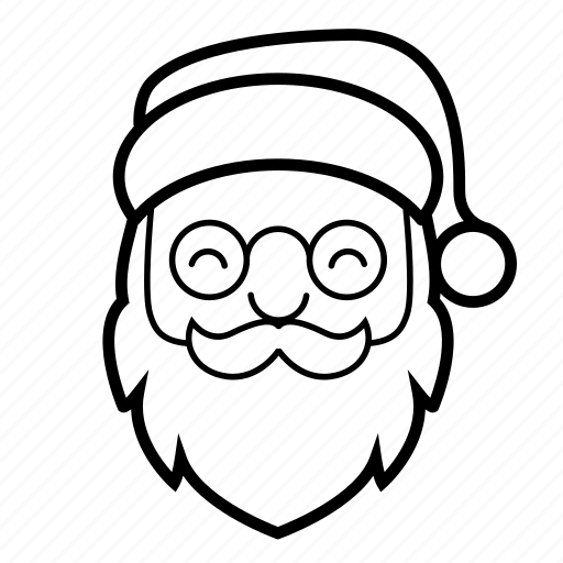 beard, christmas, hat, holiday, moustache, santa, santa clause icon