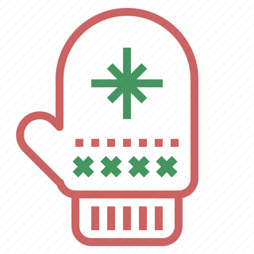 apparel, christmas, decoration, glove, warm, xmas icon