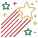 christmas, raising, star, xmas icon