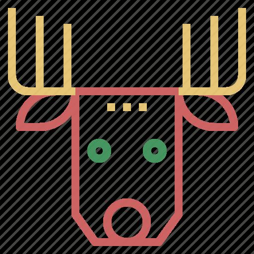 Christmas, deer, reindeer, xmas icon - Download on Iconfinder
