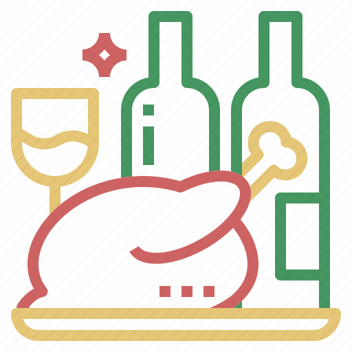 Celebration, christmas, food, meal, party icon - Download on Iconfinder