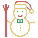 christmas, decoration, snowman, xmas icon