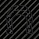 horse, horse equipment, horse shoe, magnet, shoe, studs icon