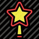 christmas, newyear, star icon