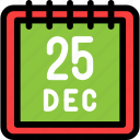 calendar, christmas, date, newyear icon
