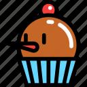 christmas, cupcake, newyear icon