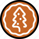 christmas, cookie, newyear icon