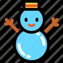christmas, newyear, snowman, winter icon