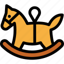 christmas, horse, newyear, rocking, toy icon