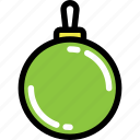 bauble, christmas, green, newyear, toy, tree icon