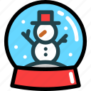 christmas, globe, newyear, snow, snowman, toy, winter icon