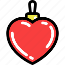 bauble, christmas, heart, newyear, toy icon