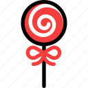 christmas, lollipop, newyear icon