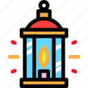 christmas, lantern, light, newyear icon