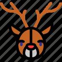 animal, christmas, deer, newyear icon