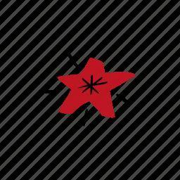hand drawn, shine, sparkling, star icon