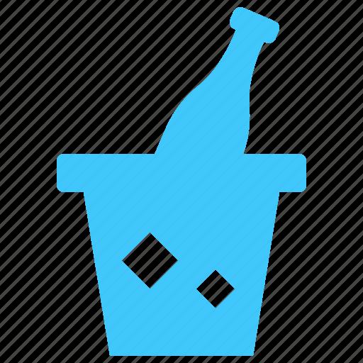 alcohol, bottle, drink, empty, wine icon
