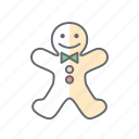 christmas, gingerbread, new year, xmas icon