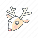 christmas, deer, new year, xmas icon
